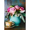 Các mẫu cắm hoa hồng đẹp với bình nhỏ đơn giản