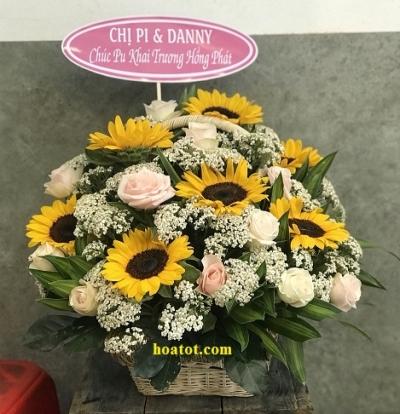 Giỏ hoa hướng dương - DH689