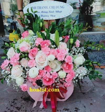 Giỏ hoa chúc mừng - DH835