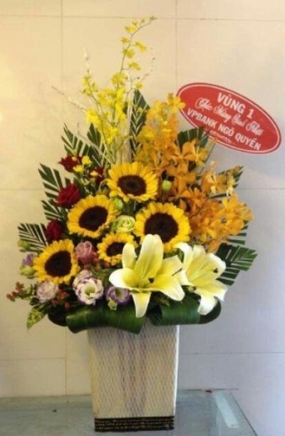 Giỏ hoa chúc mừng - DH250