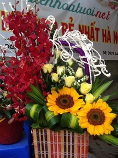 Giỏ hoa chúc mừng ma- DH83