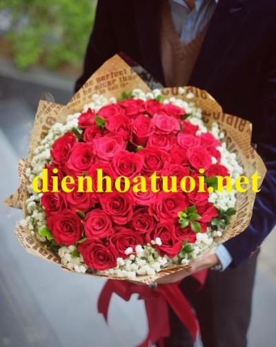 Bó hồng tươi đẹp mã- DH90