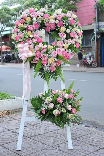Lẵng hoa chúc mừng đám cưới - DH430