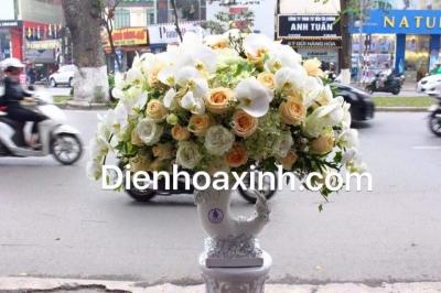 Giỏ hoa chúc mừng - DH135