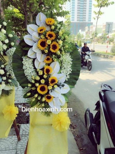 Vòng hoa tang lễ - Dh1025