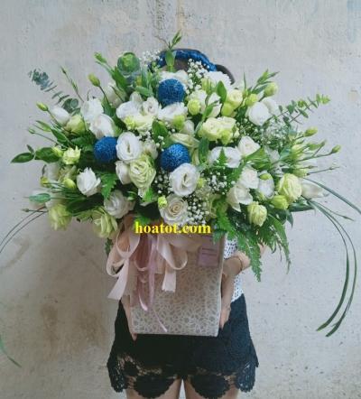 Giỏ hoa kiểu Hàn Quốc - DH723