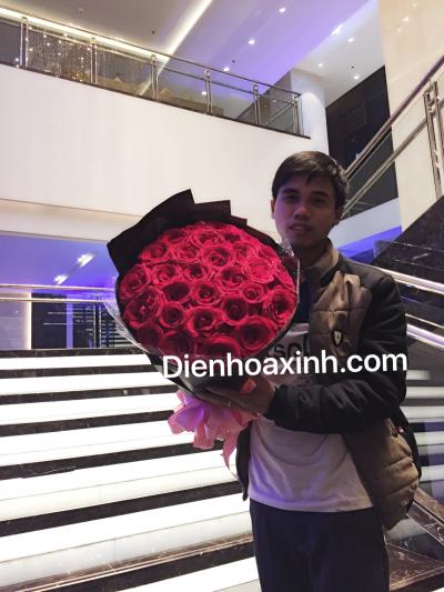Bó hoa hồng sang trọng - DH418
