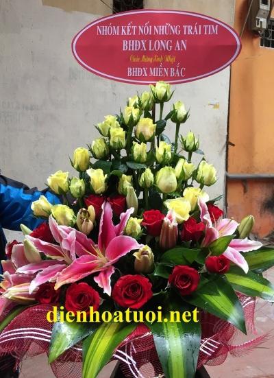 Giỏ hoa chúc mừng sinh nhật - DH408