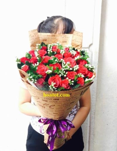 Hoa bó dài đẹp - DH498