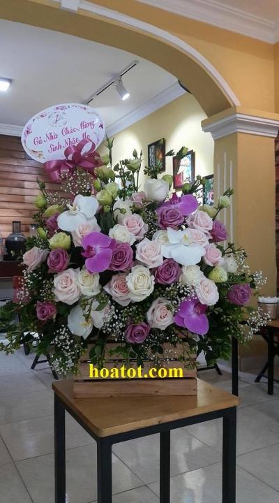 Giỏ hoa chúc mừng - DH518