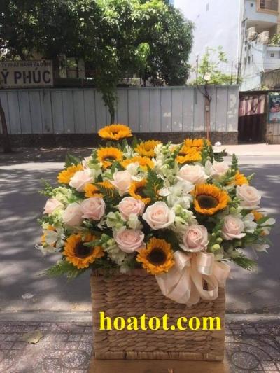 Hoa hộp gỗ - DH546