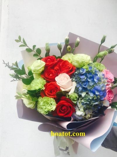 Bó hoa nhiều màu sắc -DH558