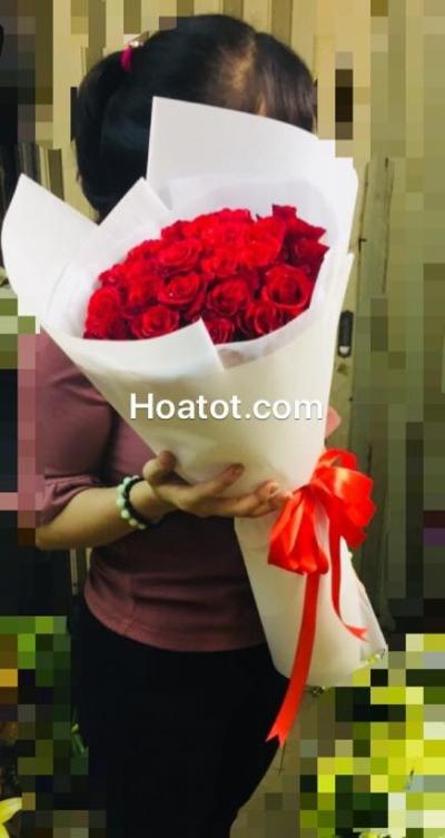 Bó hồng đỏ đẹp - DH607