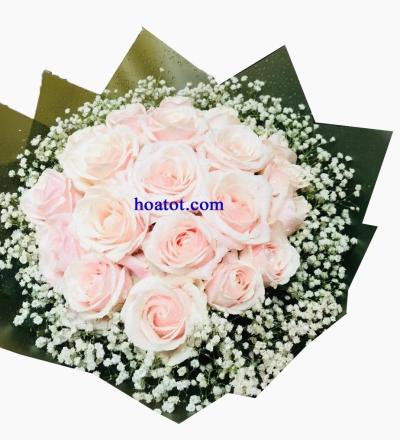 Bó hồng kem - DH611