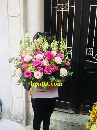 Hộp gỗ cắm hoa - DH624