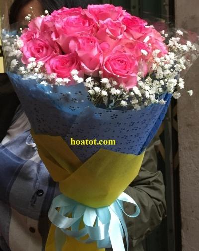 Bó hồng sen - DH633