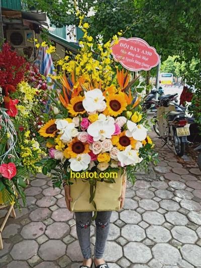 Giỏ hoa cao - DH729