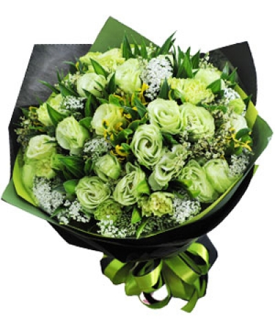 Bó hoa xanh - DH1048