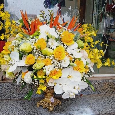 Bình hoa tông vàng - DH837