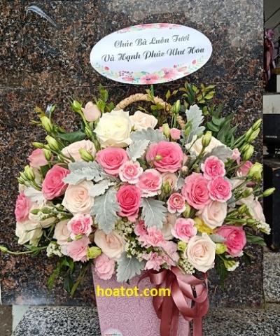 Giỏ hoa giá rẻ - DH628