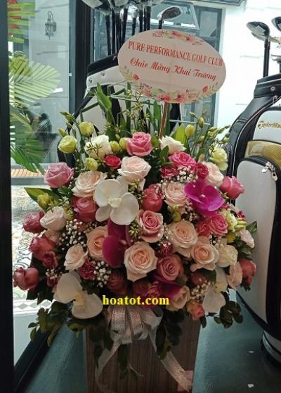 Giỏ hoa hồng - DH687