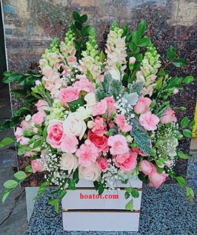 Giỏ hoa dáng cao - DH841