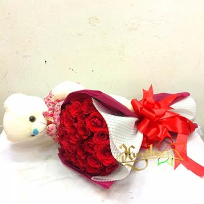 Bó hoa sinh nhật mã - DH17
