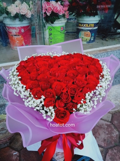 Bó hồng trái tim - DH878