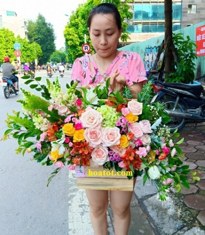 Giỏ hoa xinh - DH733