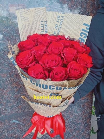 Bó hoa hồng đỏ - DH879