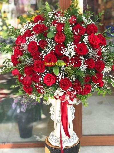 Bình hồng đỏ sang trọng - DH726