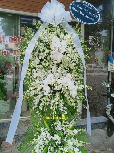 Hoa tang lễ tông trắng - DH838