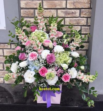 Giỏ hoa sang chảnh - DH844