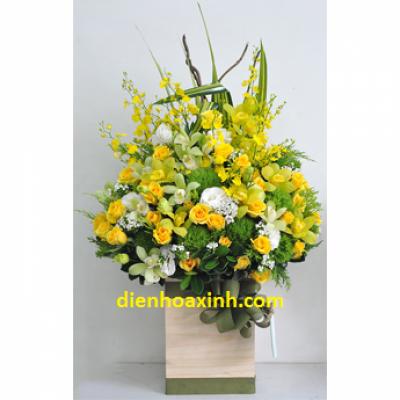 Giỏ hoa đẹp - DH56