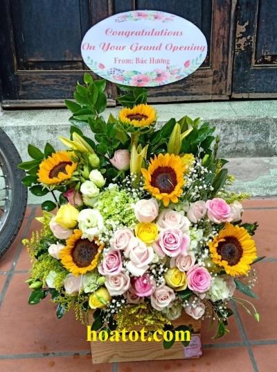 Giỏ hoa để bàn - DH693