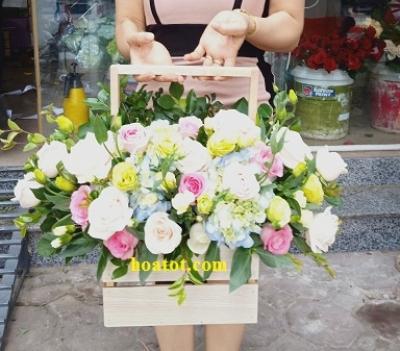 Giỏ hoa giá rẻ - DH836