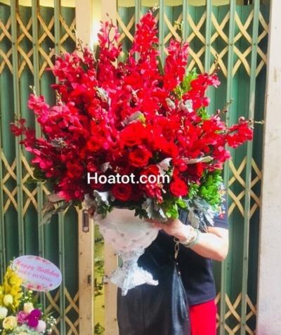Bình hoa đỏ - DH661