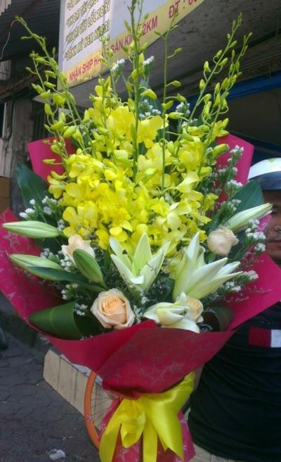 Hoa bó tặng thầy cô - DH44