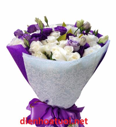 Hoa bó tròn đẹp - DH222