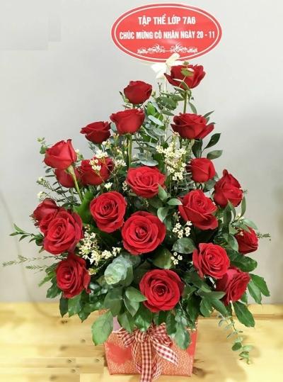 Giỏ hoa hồng - DH331