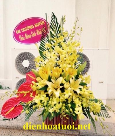 Giỏ hoa chúc mừng đẹp - DH203