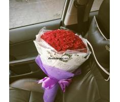 Hoa bó tròn đẹp mã- DH88