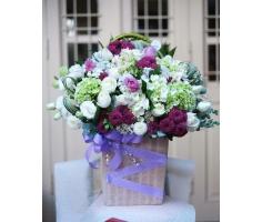 Giỏ hoa đẹp mã- DH93