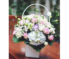Giỏ hoa đẹp - DH372