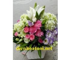 Giỏ hoa chúc mừng - DH403