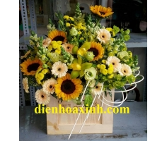 Hoa hộp gỗ - DH1028
