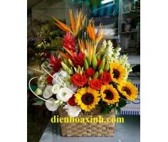 Giỏ hoa đẹp - DH363