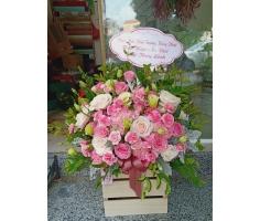 Giỏ hoa đẹp - DH743