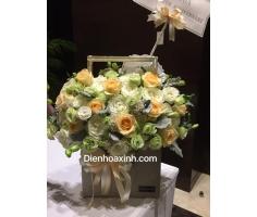 Hoa sinh nhật hồng thắm - DH121