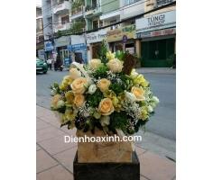 Giỏ hoa chúc mừng mã - DH27